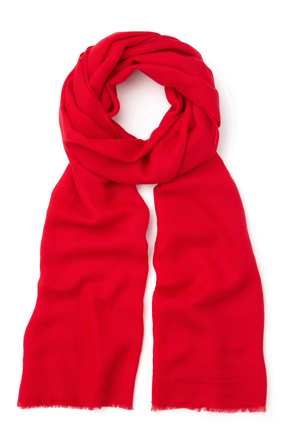 Cashmere Scarf (stle) - Red | Bonsoir of London
