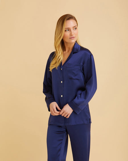 Women's Silk Midnight Pyjamas | Bonsoir of London