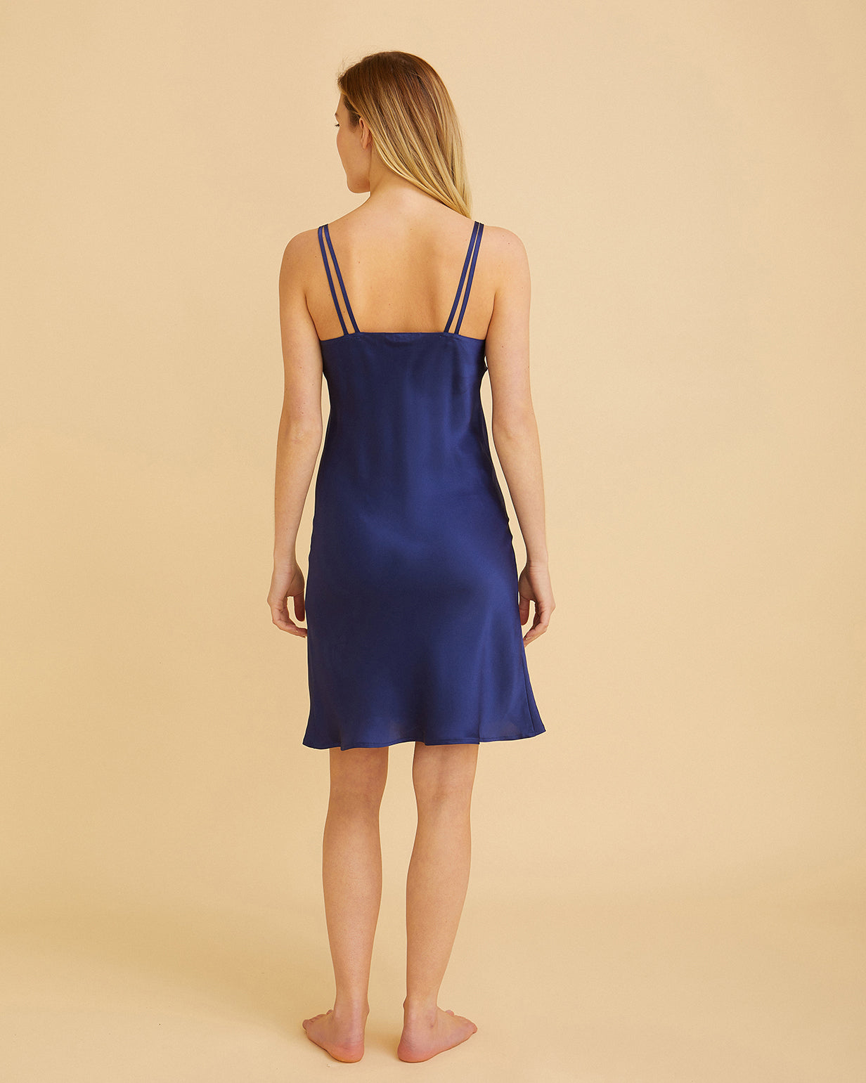Women's Luxury Midnight Silk Short Nightdress | Bonsoir of London