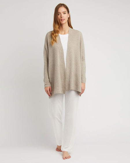 Women's Cashmere Knit Cardigan -Fawn