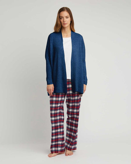 Women's Cashmere Knit Cardigan - Navy