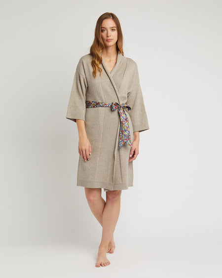 Women's Cashmere Robe - Fawn