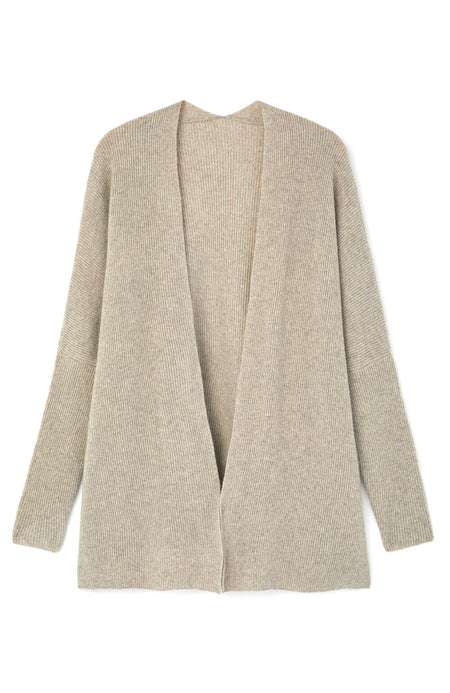Cashmere Cardi (cardi) -Fawn | Bonsoir of London