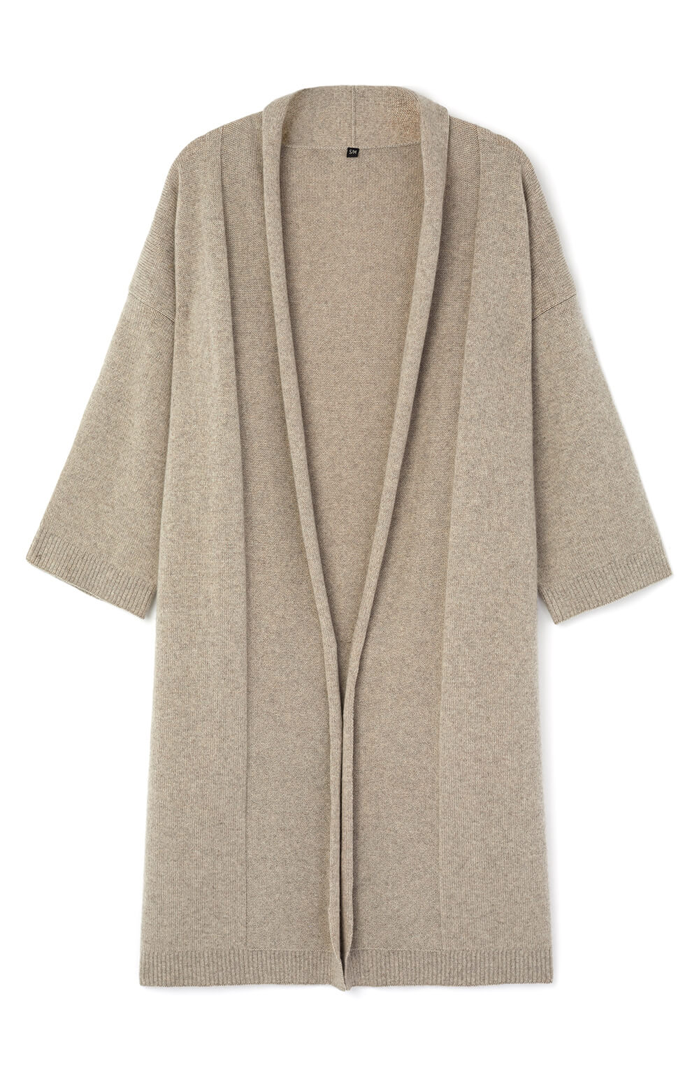 Cashmere Robe (crob) - Fawn | Bonsoir of London