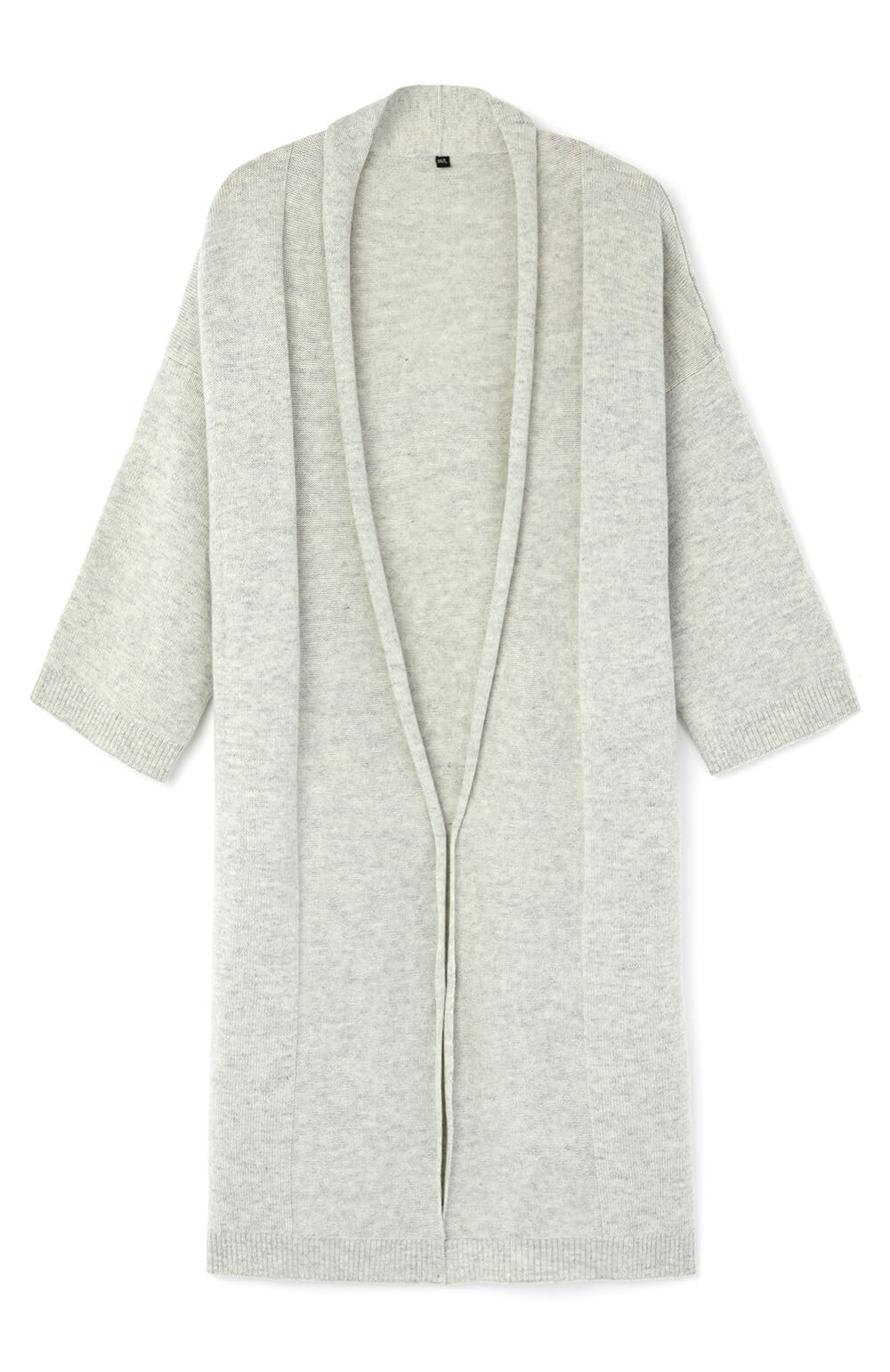 Cashmere Robe (crob) - Grey | Bonsoir of London