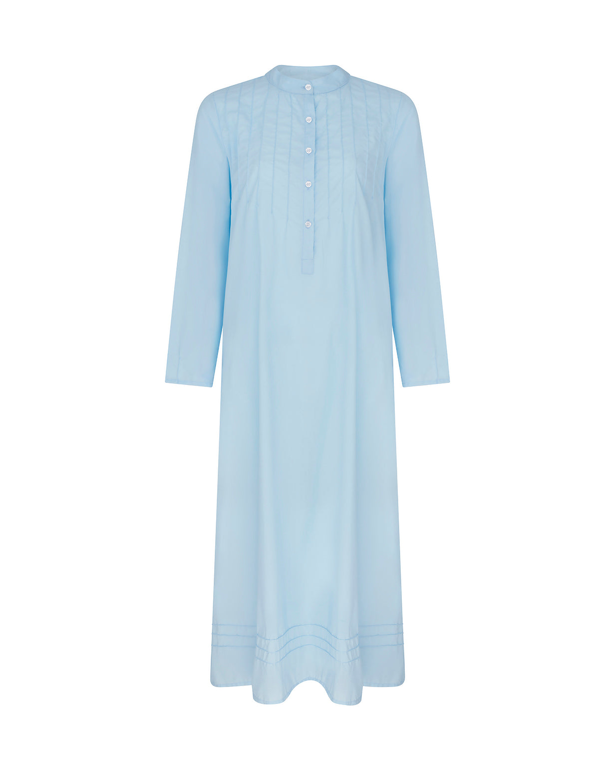 Women's Victoria Long Sleeve Cotton Nightdress – Blue