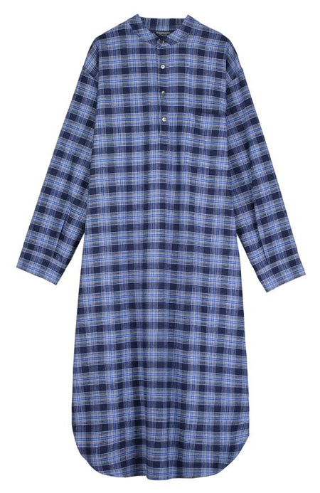 Brushed Cotton Grandad Nightshirt (jmnl) - Dougal | Bonsoir of London