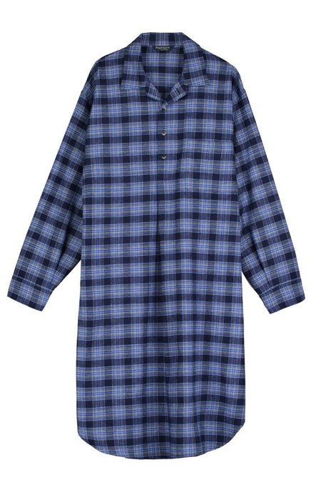 Brushed Cotton Nightshirt (jmnm) - Dougal | Bonsoir of London