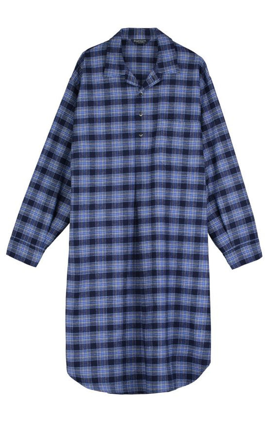 Brushed Cotton Nightshirt (jmnm)- Navy