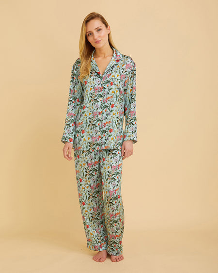 Women's Silk Pyjamas – Eden | Bonsoir of London