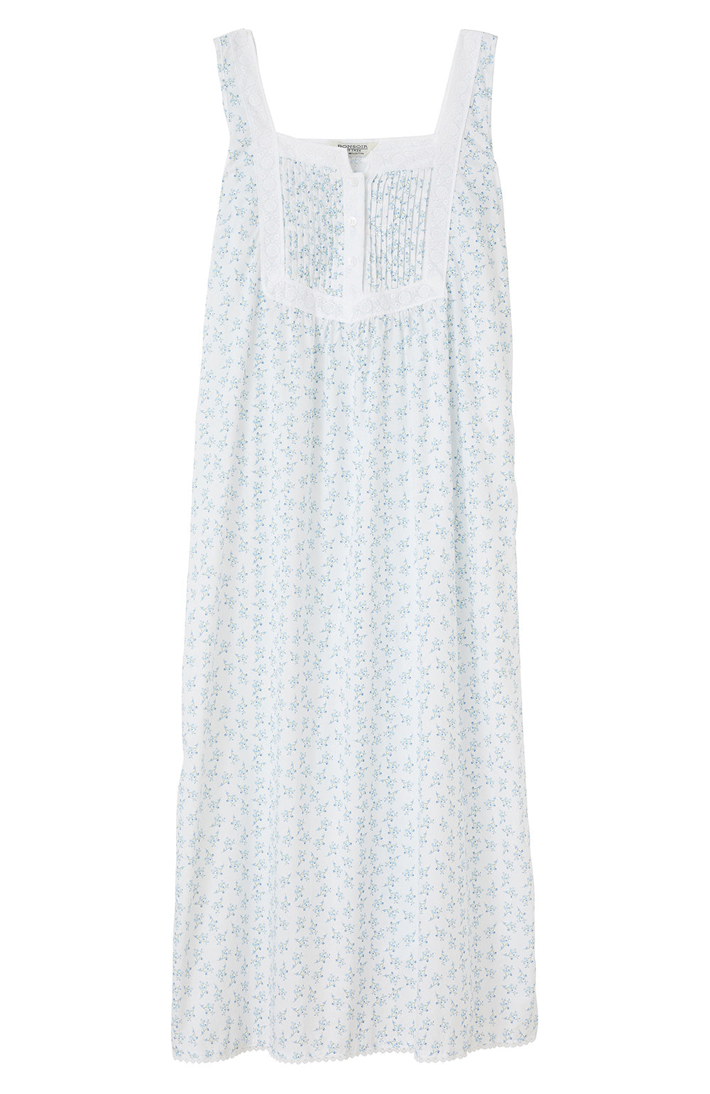 Eliza Blue Flower Nightdress | Bonsoir of London