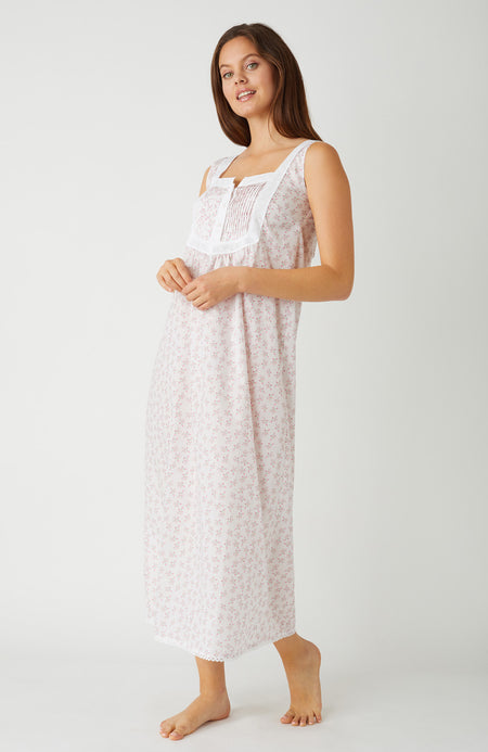 Eliza Pink Flower Nightdress | Bonsoir of London