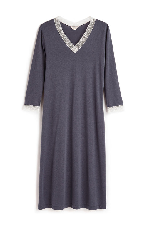ELLA NIGHTDRESS - SLATE | Bonsoir of London