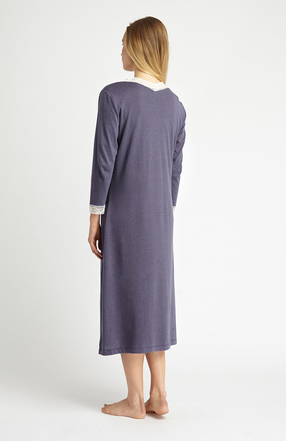 Ella Nightdress (ella) - Slate | Bonsoir of London