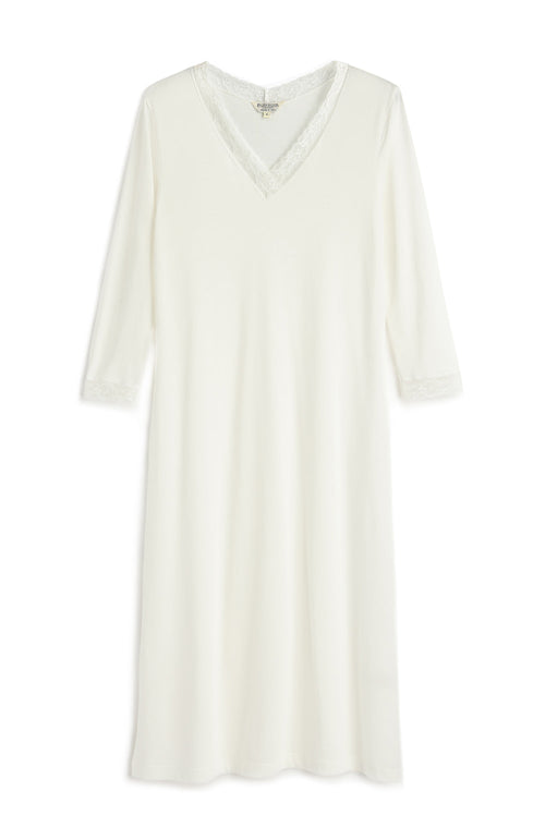 ELLA NIGHTDRESS - ANTIQUE WHITE | Bonsoir of London