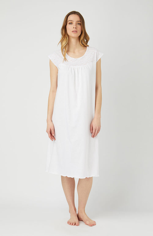EMMA NIGHTDRESS - WHITE | Bonsoir of London