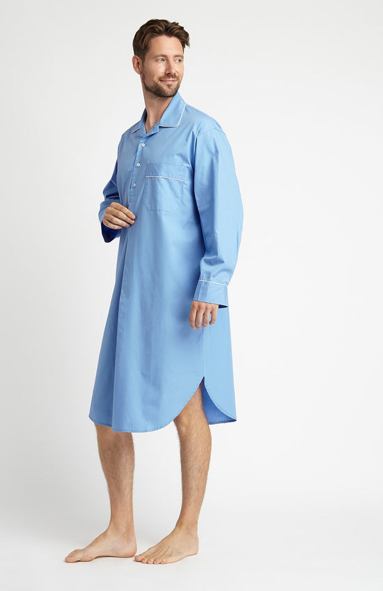 Brushed Cotton Pyjamas (tlps) - Bright Blue