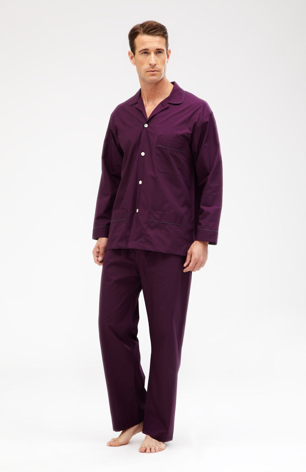 Essential Pyjamas (empe) - Aubergine | Bonsoir of London