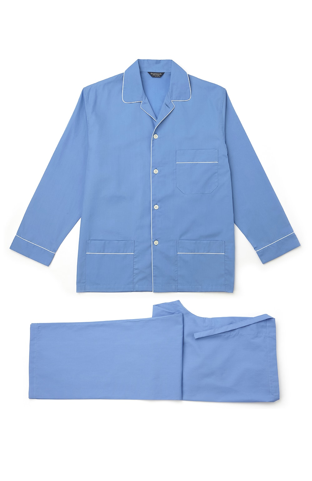 Essential Pyjamas (empe) - Mid Blue | Bonsoir of London