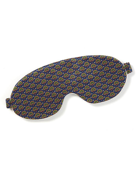 Men's Silk Eye Mask in Royal Motif | Bonsoir of London