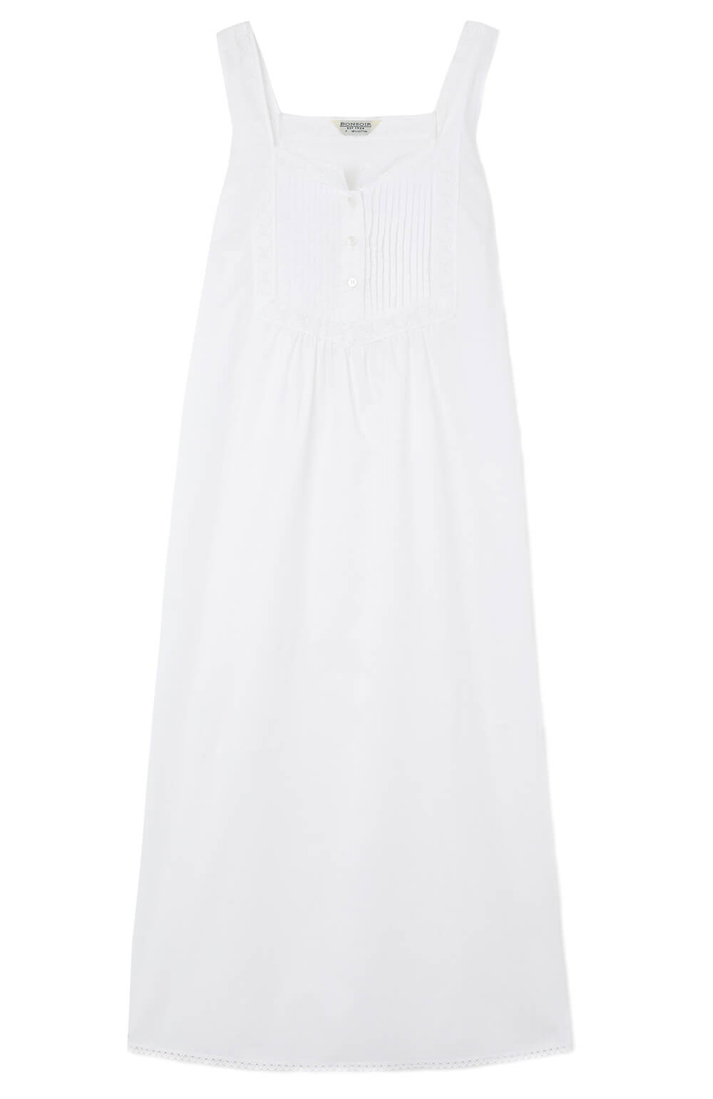 Women's Eliza White Nightdress | Bonsoir of London