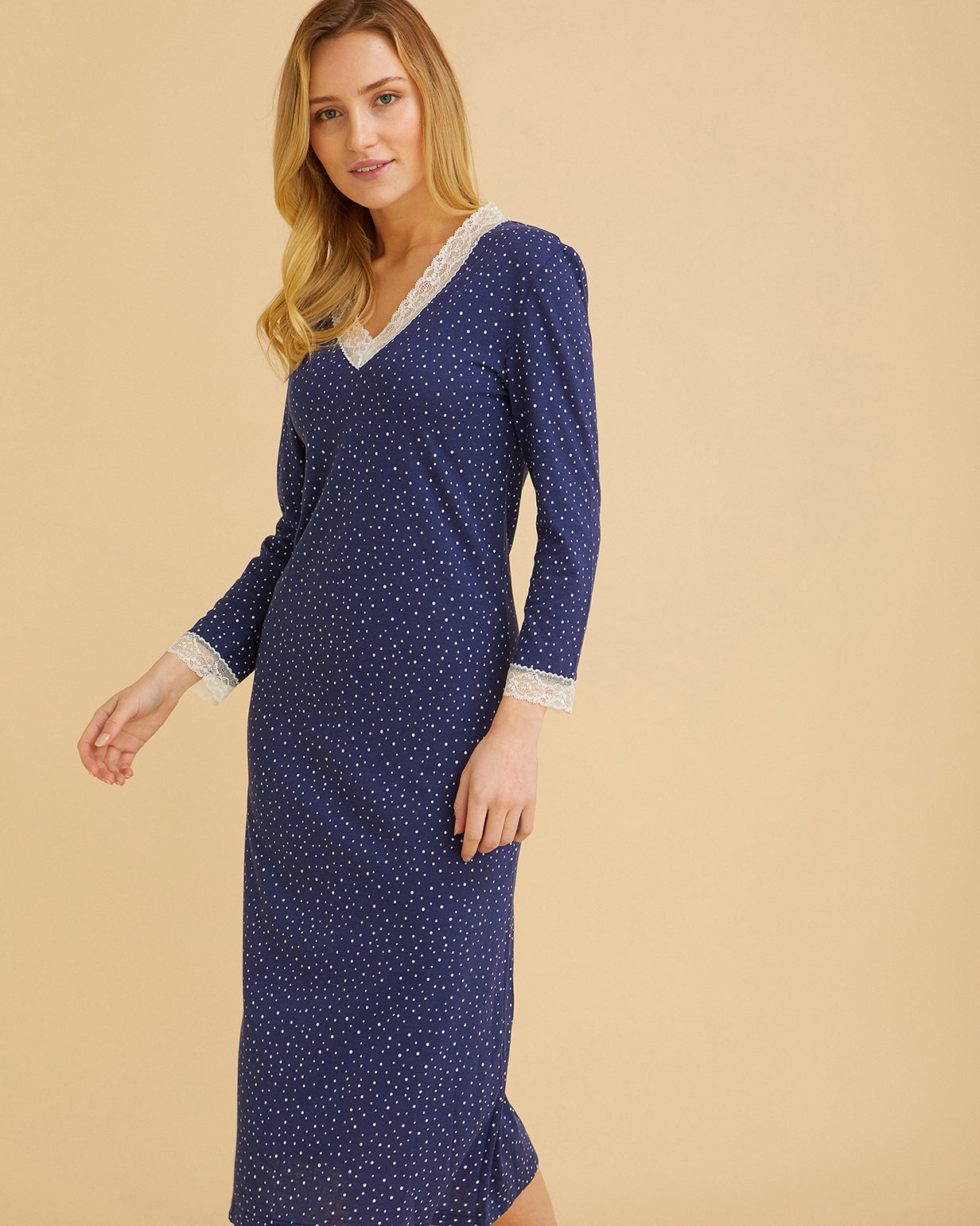 Women's Ella Polka Dot Nightdress | Bonsoir of London