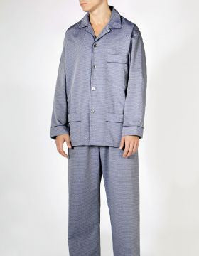 Finesse Jacquard Pyjama (fmpe) - Grey | Bonsoir of London