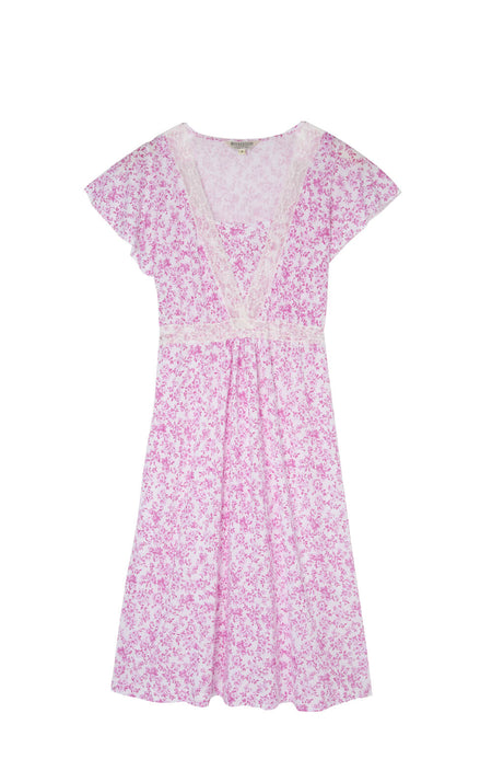Maternity & Nursing Short Sleeve Jersey Nightdress (mlns) Pink Floral