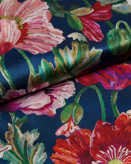 Women's Silk Pyjamas - Flowers