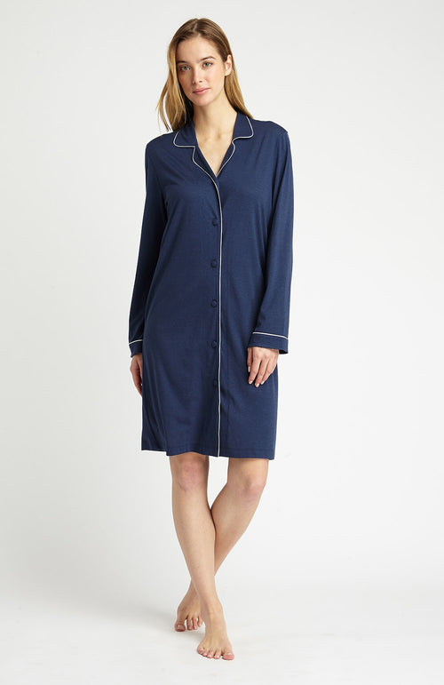 JERSEY NIGHTSHIRT - MIDNIGHT