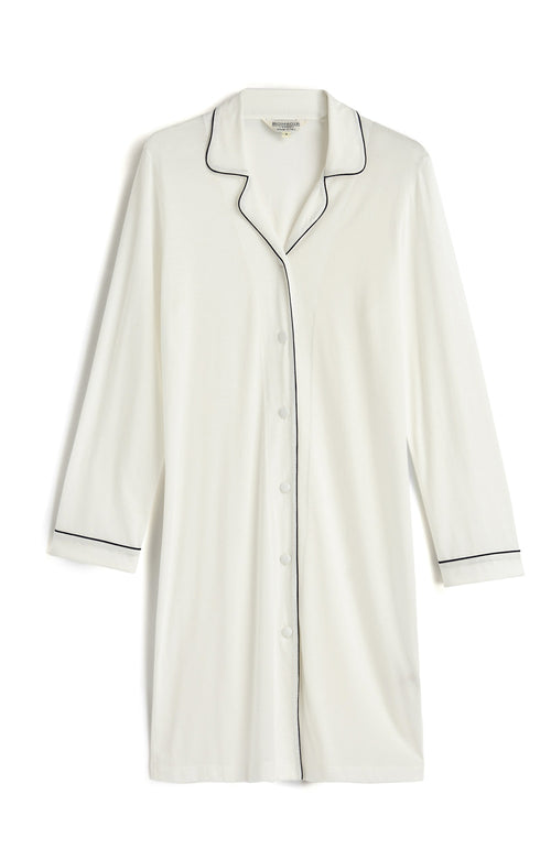 JERSEY NIGHTSHIRT - WHITE
