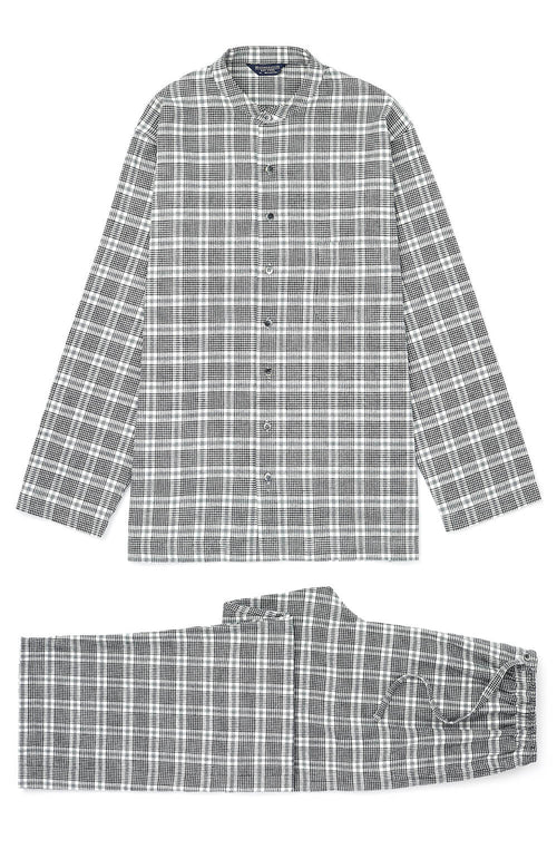 Brushed Cotton Grandad Pyjamas (jmpg) - Rathbone | Bonsoir of London
