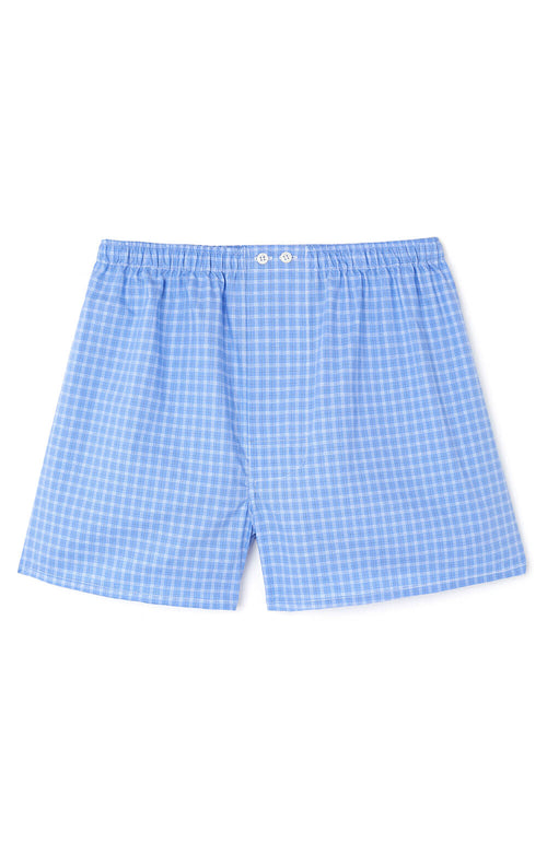 Heritage Boxer Short - Blue Check