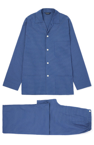 Brushed Cotton Pyjamas (jmpe) - Bright Blue