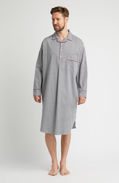 Houndstooth Nightshirt (hmnm) - Black Houndstooth