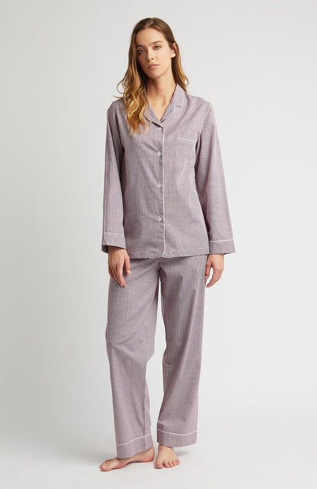 Houndstooth Pyjamas (hlfp) - Red Houndstooth