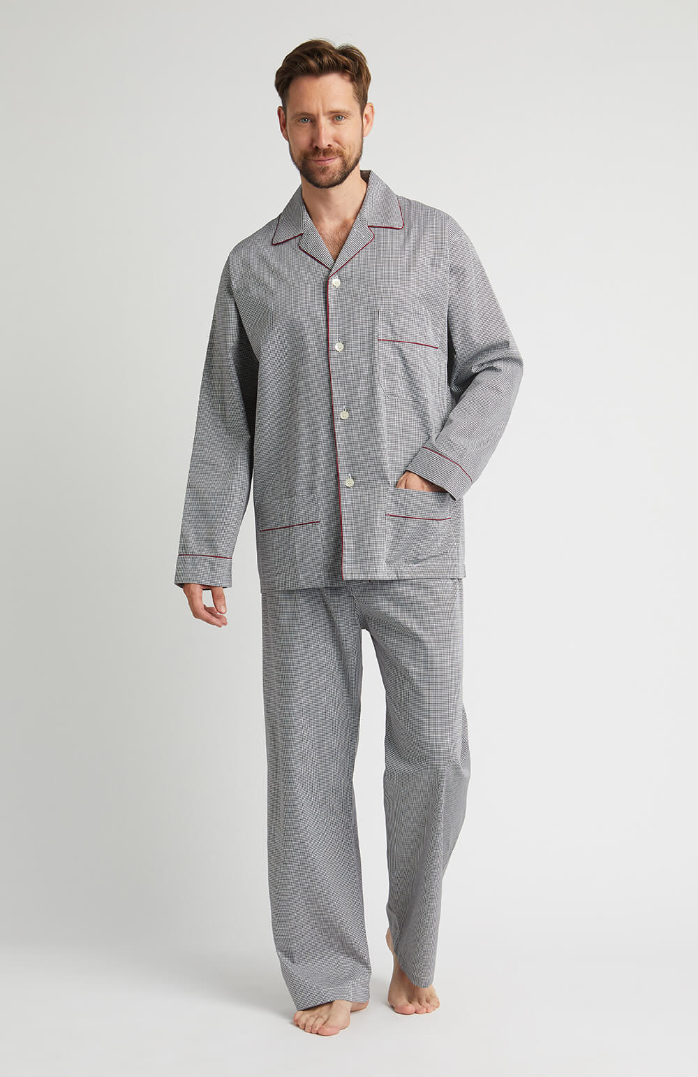 Houndstooth Pyjamas (hmpe) - Black Houndstooth