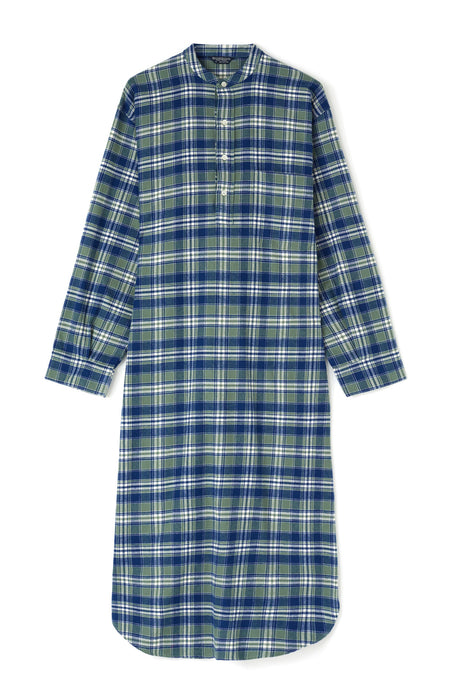 Brushed Cotton Farringdon Grandad Nightshirt | Bonsoir of London