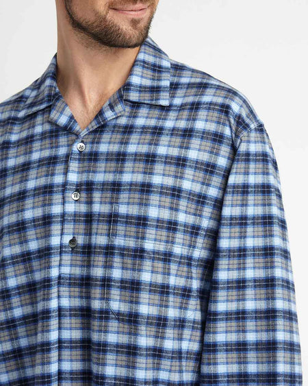Men's Brushed Cotton Nightshirt - Derwent