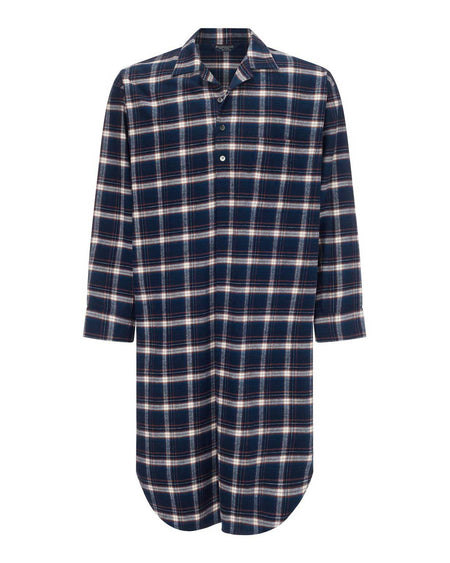 Brushed Cotton Nightshirt (jmnm) - Drumore | Bonsoir of London
