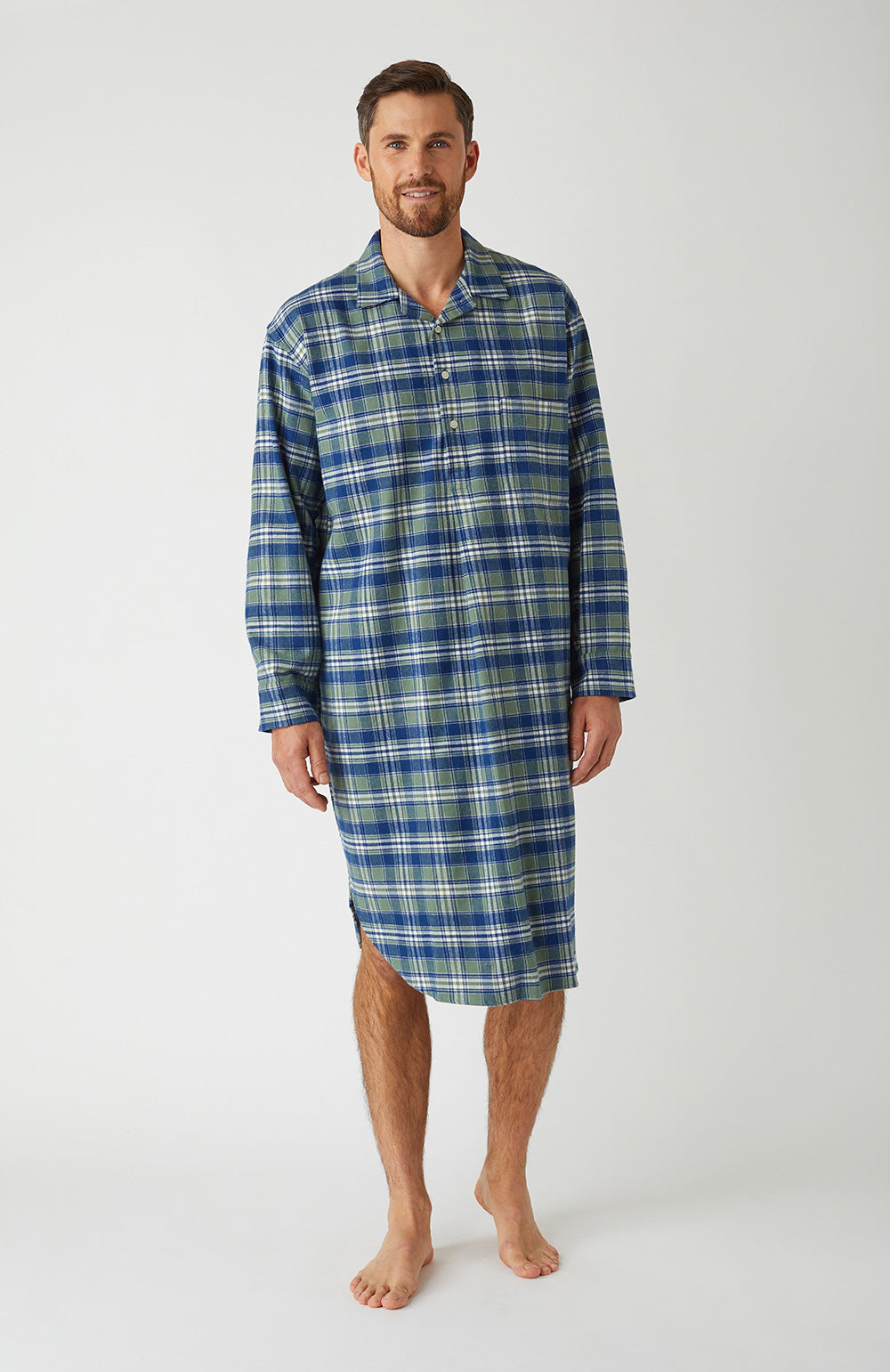 Brushed Cotton Farringdon Nightshirt | Bonsoir of London