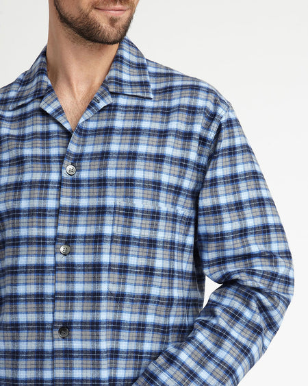 Men's Brushed Cotton Pyjamas - Derwent Plaid