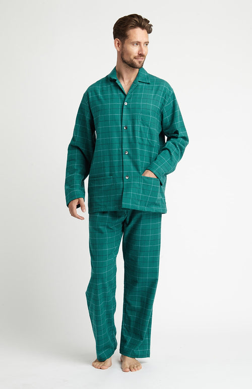 Brushed Cotton Pyjamas (jmpe) - Kendal | Bonsoir of London