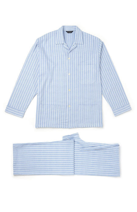 Men's Brushed Cotton Classic Stripe Pyjamas | Bonsoir of London
