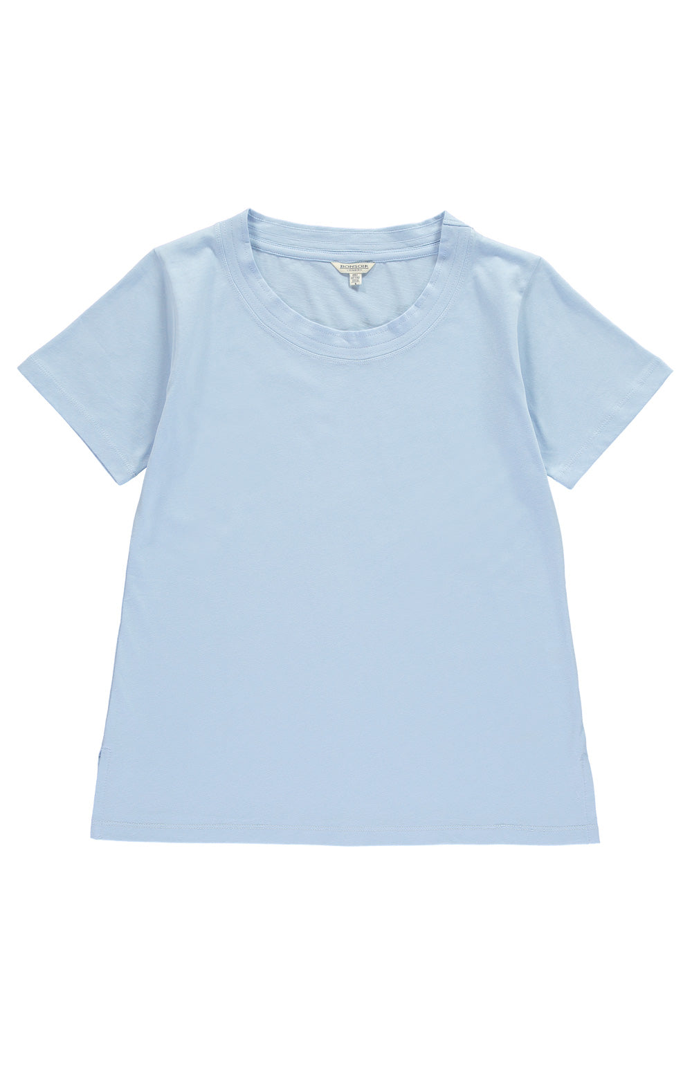 SCOOP NECK T-SHIRT - BLUE