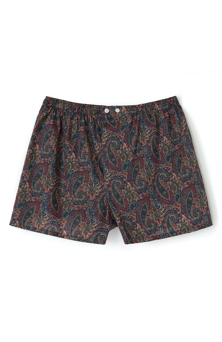 Fine Cotton Boxers made with Liberty Fabric in Ted | Bonsoir of London