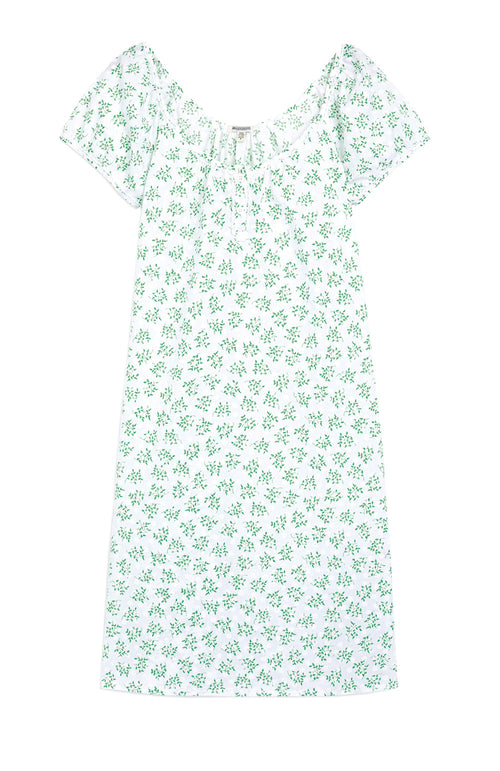 LUCY NIGHTDRESS - GREEN FLORAL
