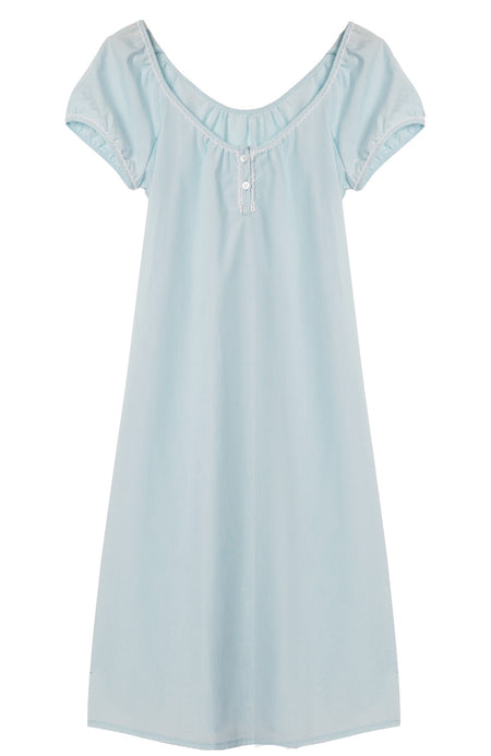 Pale Aqua Lucy Nightdress | Bonsoir of London