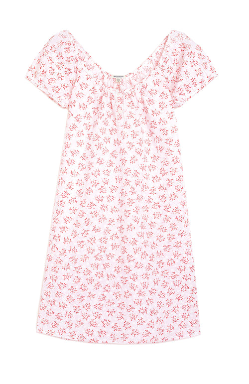 LUCY NIGHTDRESS - RED FLORAL