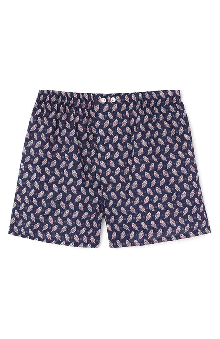 Men's Fine Cotton Boxer Shorts made with Liberty Fabric (lmbb) - Cosmo